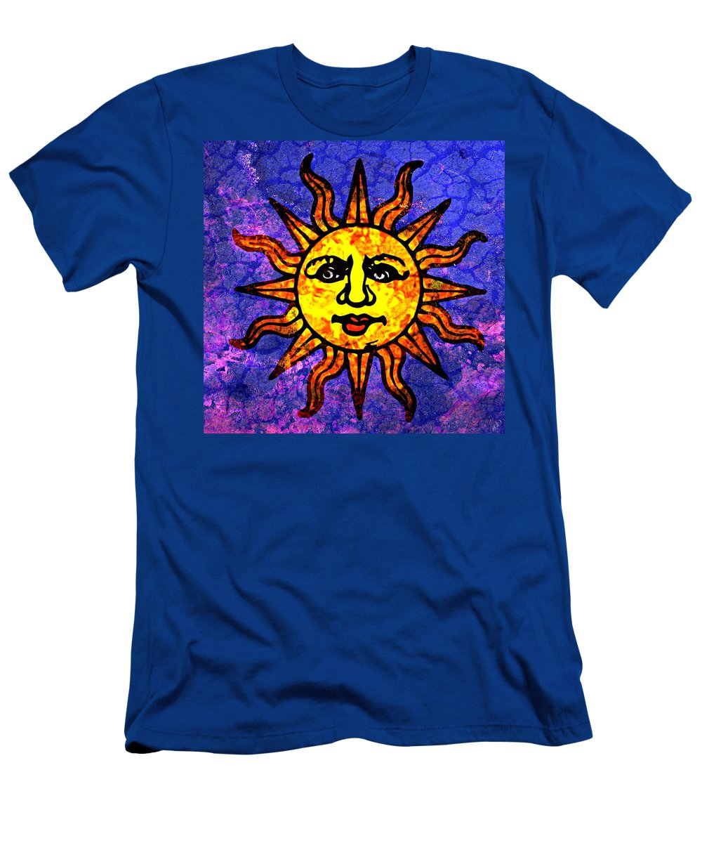 Sun Men's T-Shirt (Athletic Fit) featuring the painting Sun Salutation by Ally White