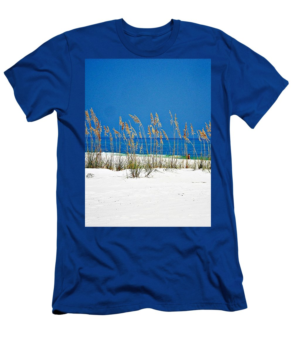 Gulf Of Mexico Men's T-Shirt (Athletic Fit) featuring the photograph Sun Sand Surf by Mary Marsh