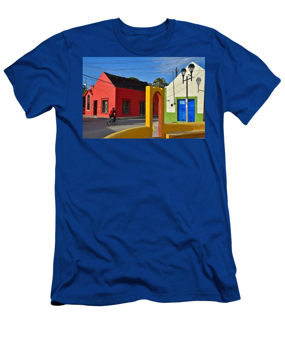 Sunny Side Men's T-Shirt (Athletic Fit) featuring the photograph Sunny Side by Skip Hunt