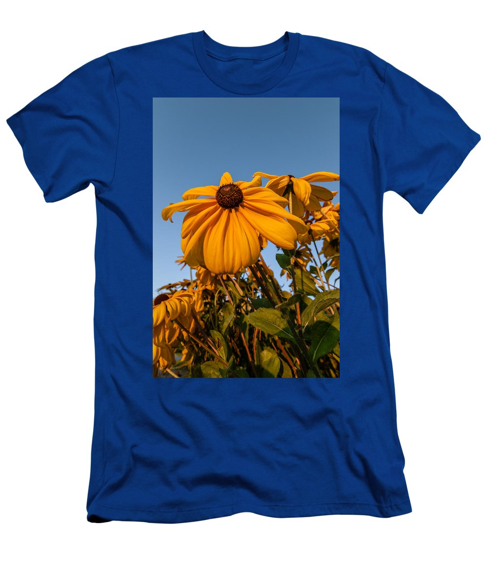 Alaska Men's T-Shirt (Athletic Fit) featuring the photograph Sunset Flowers by Lauri Novak