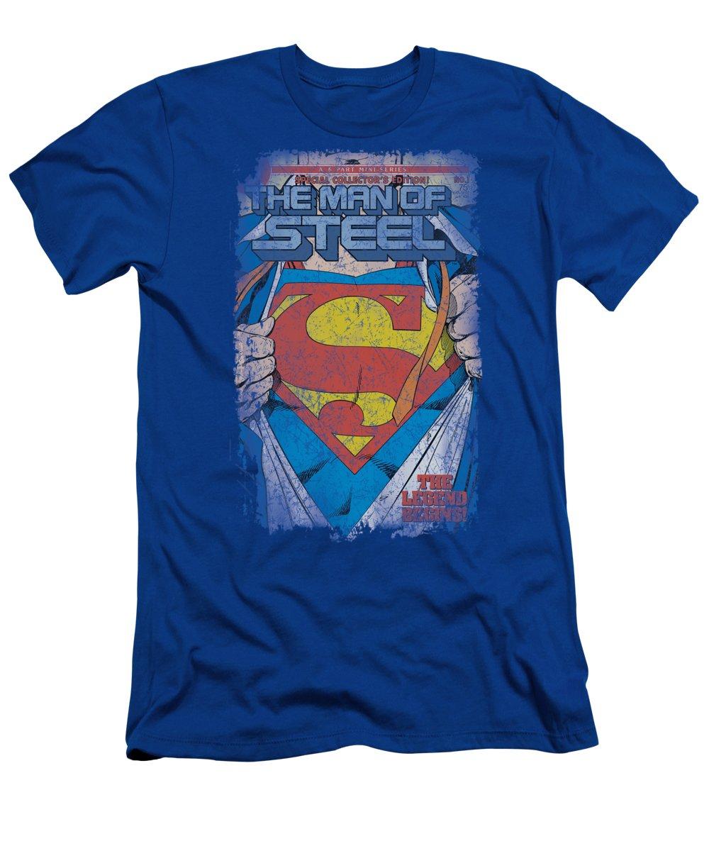 Superman T-Shirt featuring the digital art Superman - Legendary by Brand A