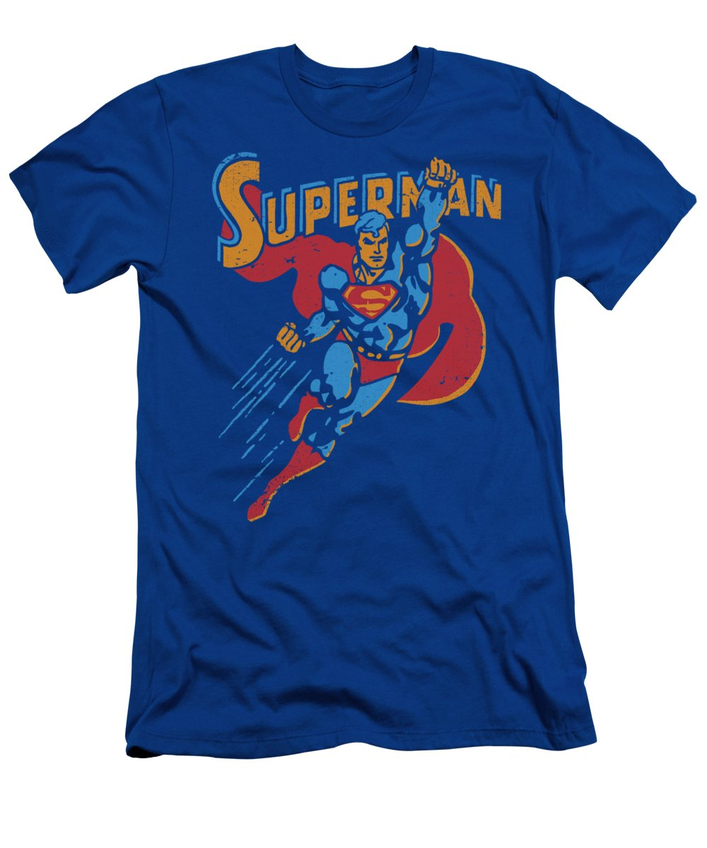 Superman T-Shirt featuring the digital art Superman - Life Like Action by Brand A