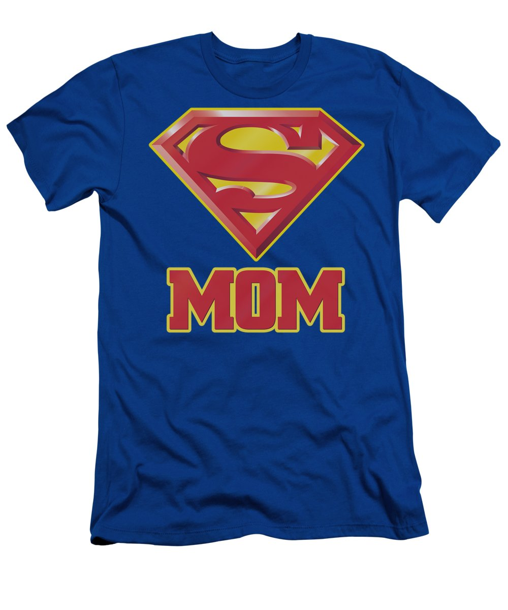 Superman T-Shirt featuring the digital art Superman - Super Mom by Brand A