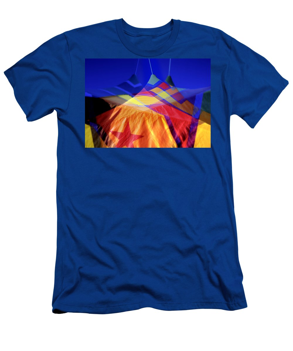 Tent Men's T-Shirt (Athletic Fit) featuring the photograph Tent Of Dreams by Wayne Sherriff
