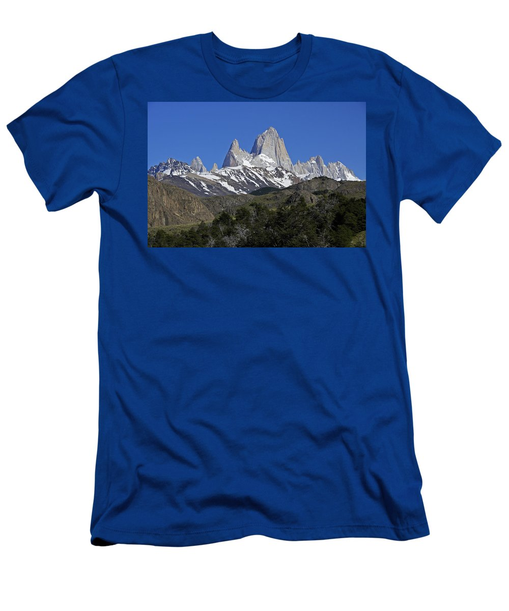 Argentina Men's T-Shirt (Athletic Fit) featuring the photograph The Fitz Roy Range by Michele Burgess