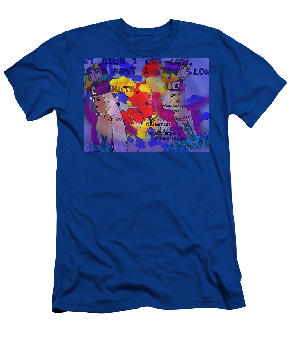 Men's T-Shirt (Athletic Fit) featuring the digital art The Hatter by Cathy Anderson