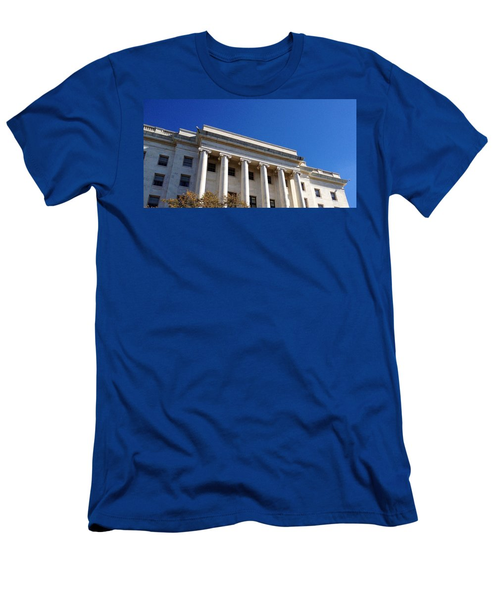 House Office Building Men's T-Shirt (Athletic Fit) featuring the photograph The House Office Building by Lois Ivancin Tavaf
