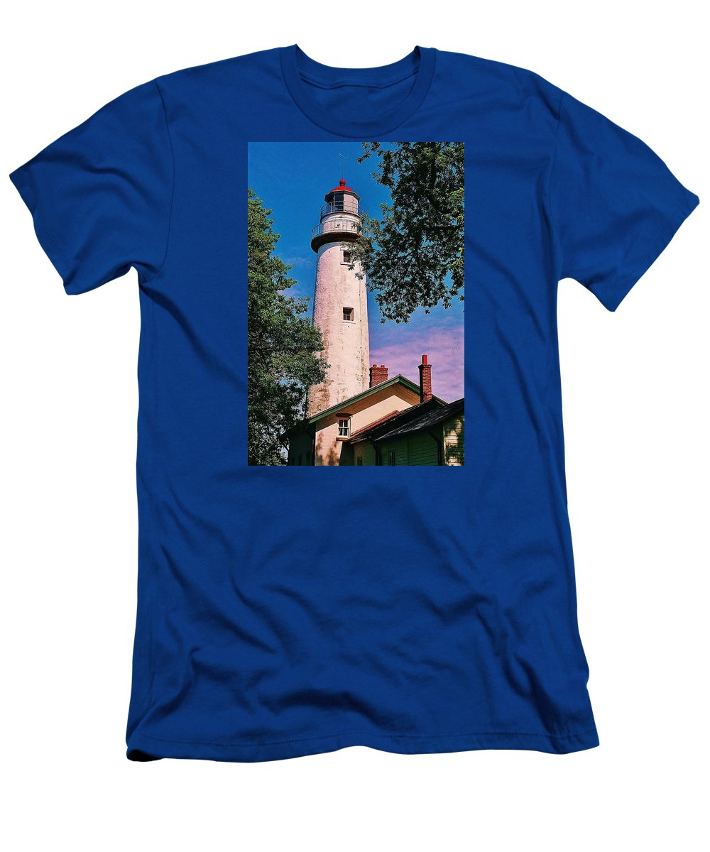 Lighthouse Men's T-Shirt (Athletic Fit) featuring the photograph The Light Of Hope... by Daniel Thompson