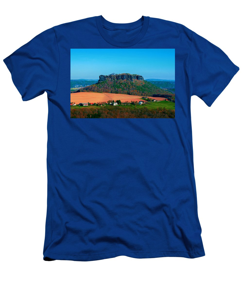 Germany Men's T-Shirt (Athletic Fit) featuring the photograph The Lilienstein by Sun Travels