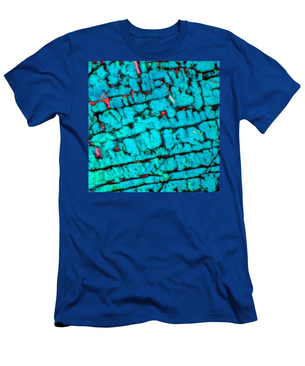 Abstract Men's T-Shirt (Athletic Fit) featuring the photograph The Maze by Tom Phillips