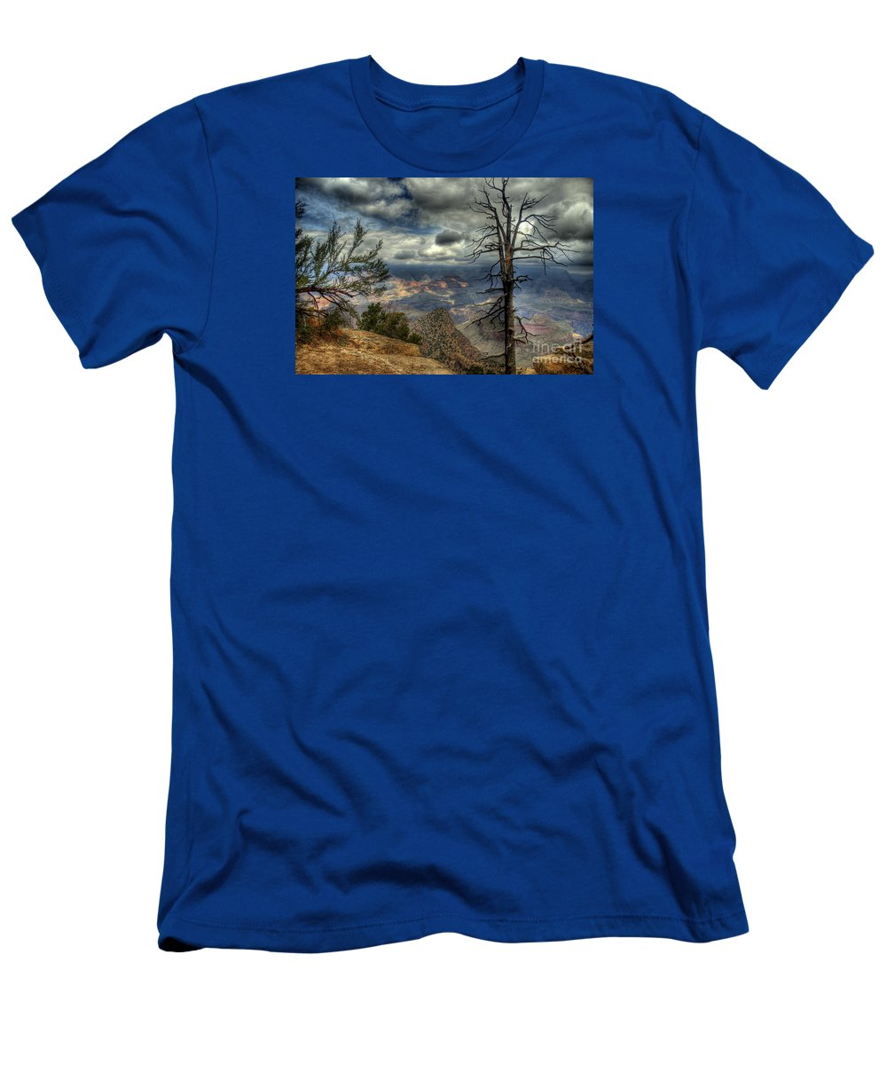 The Grand Canyon Men's T-Shirt (Athletic Fit) featuring the photograph The Raven's Perch by K D Graves