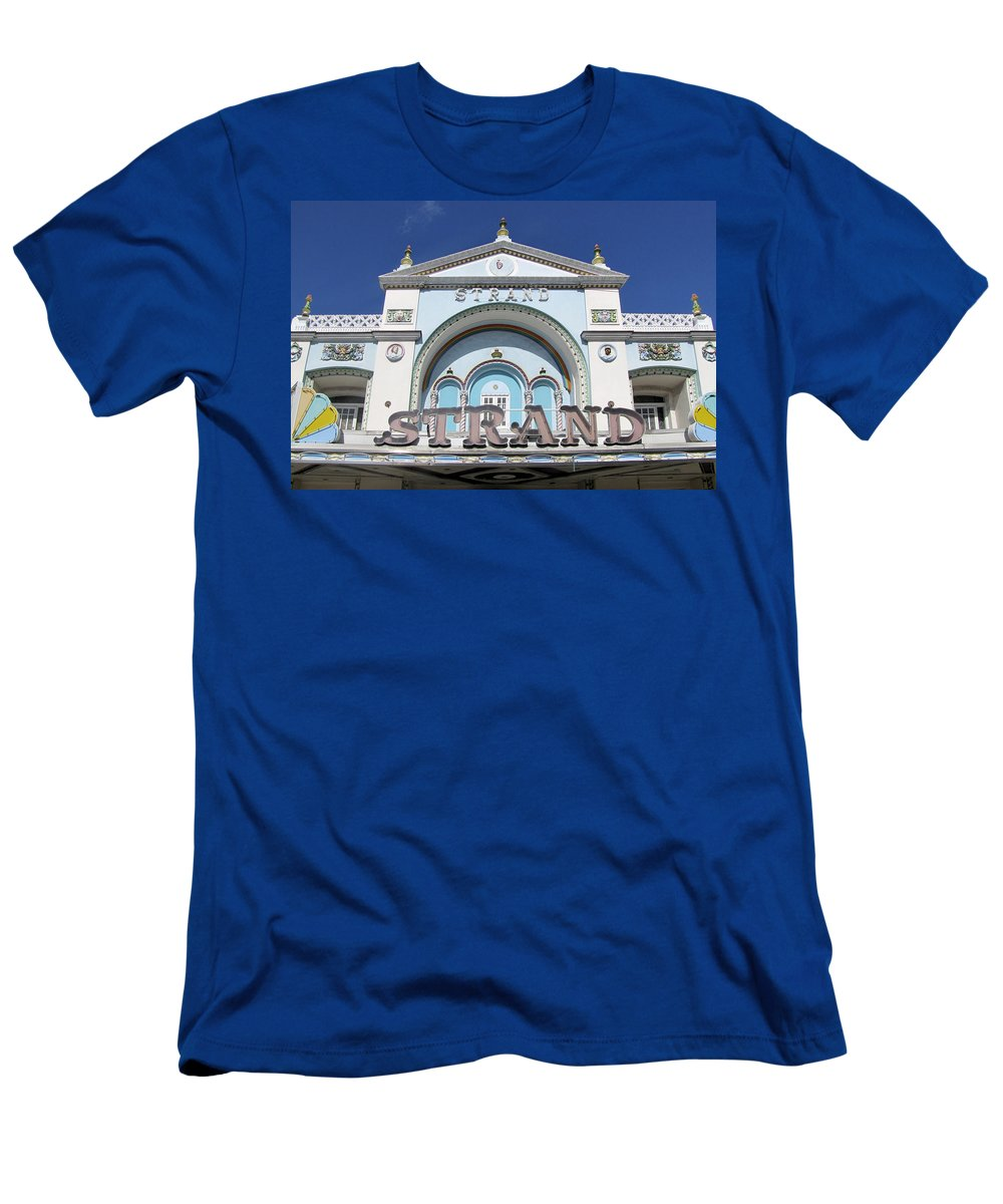 Vintage Men's T-Shirt (Athletic Fit) featuring the photograph The Strand Key West by Bob Slitzan