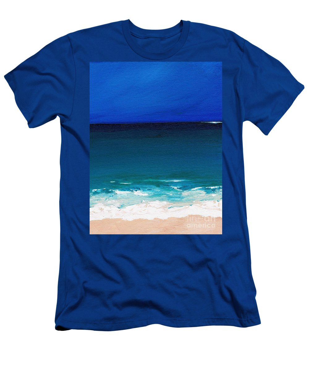 Seashore T-Shirt featuring the painting The Tide Coming In by Frances Marino