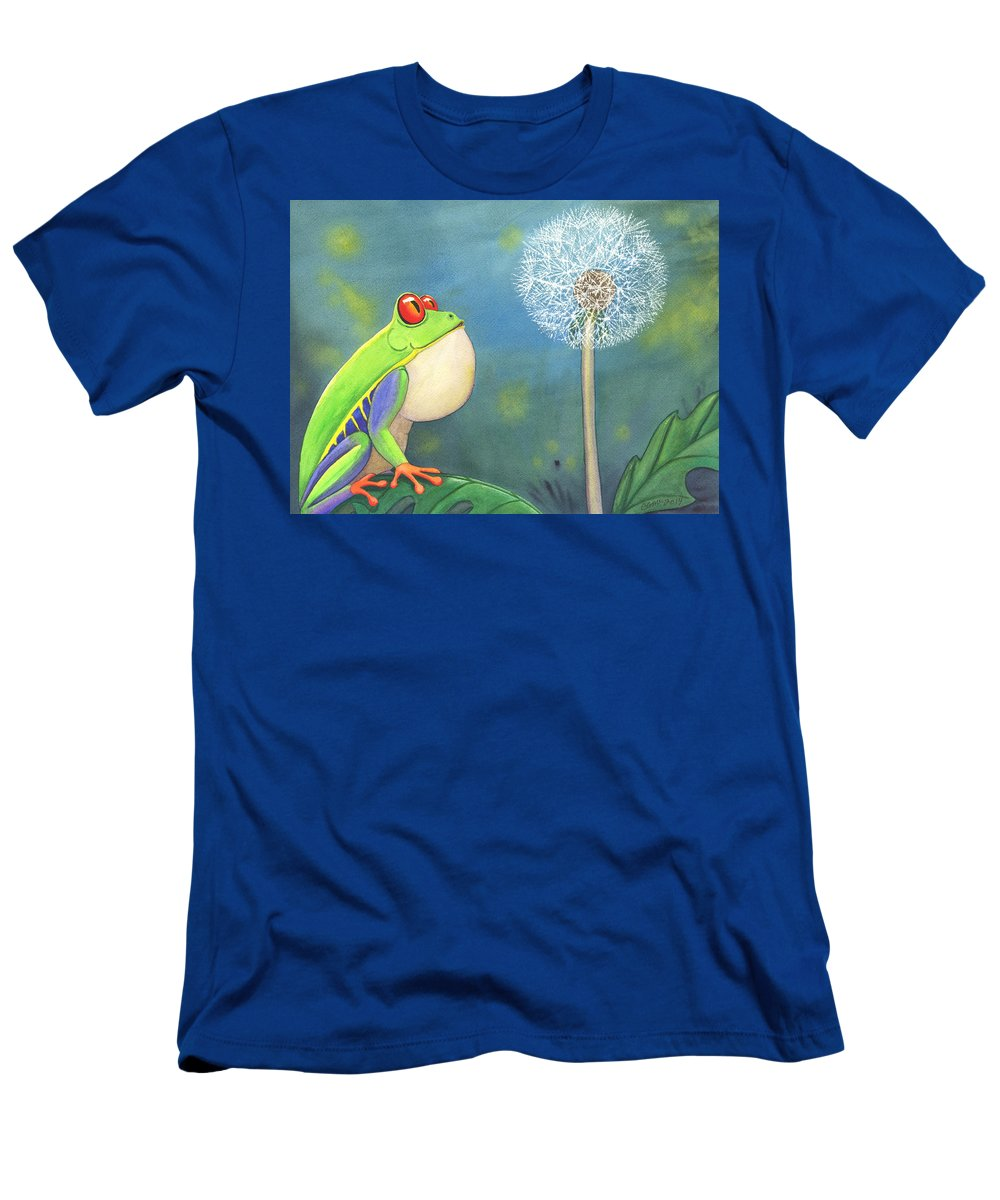 Frog T-Shirt featuring the painting The Wish by Catherine G McElroy