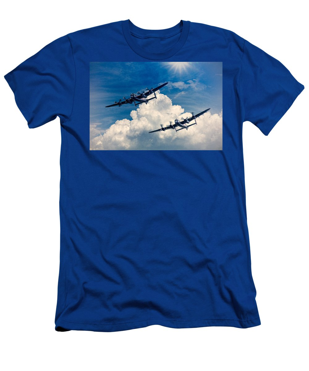 Thumper Men's T-Shirt (Athletic Fit) featuring the photograph Thumper And Vera by Chris Lord