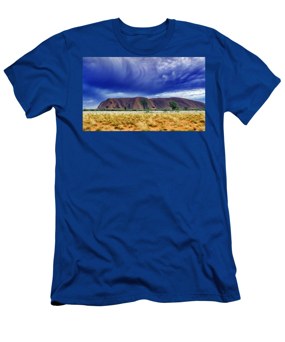 Landscapes Men's T-Shirt (Athletic Fit) featuring the photograph Thunder Rock by Holly Kempe
