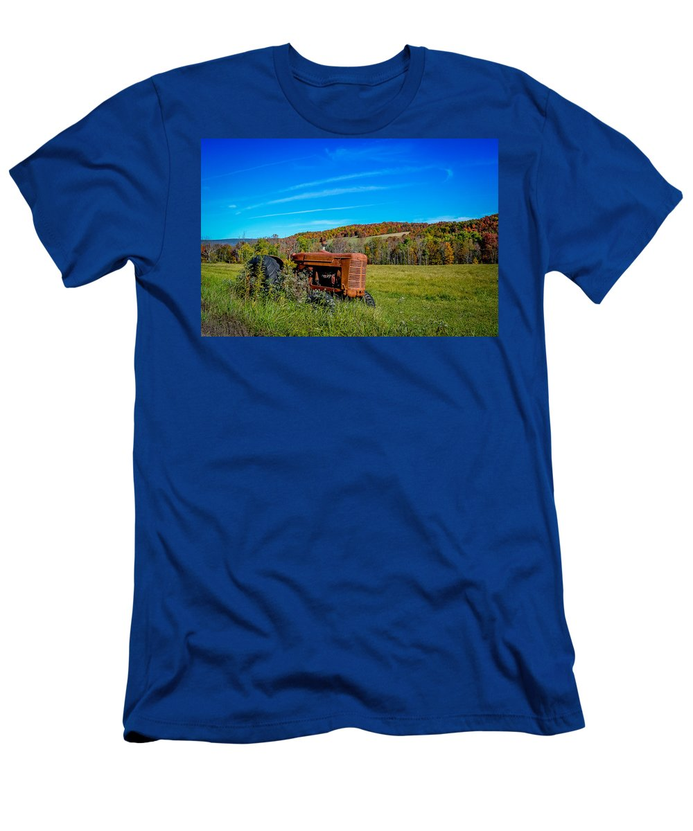 Men's T-Shirt (Athletic Fit) featuring the photograph Tractor by Michael Brooks