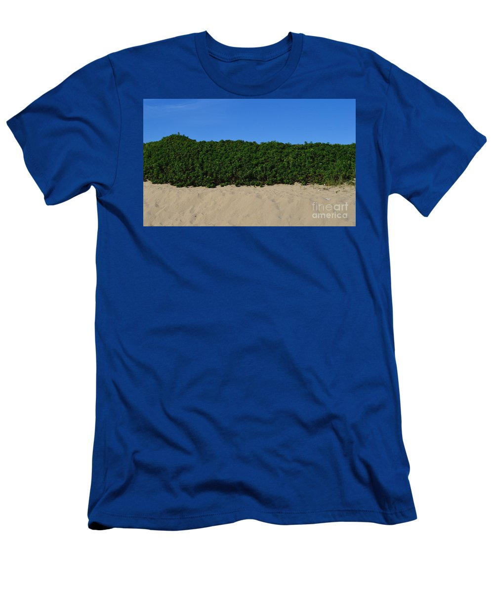 Sand Men's T-Shirt (Athletic Fit) featuring the photograph Tri-color At The Beach by Meandering Photography