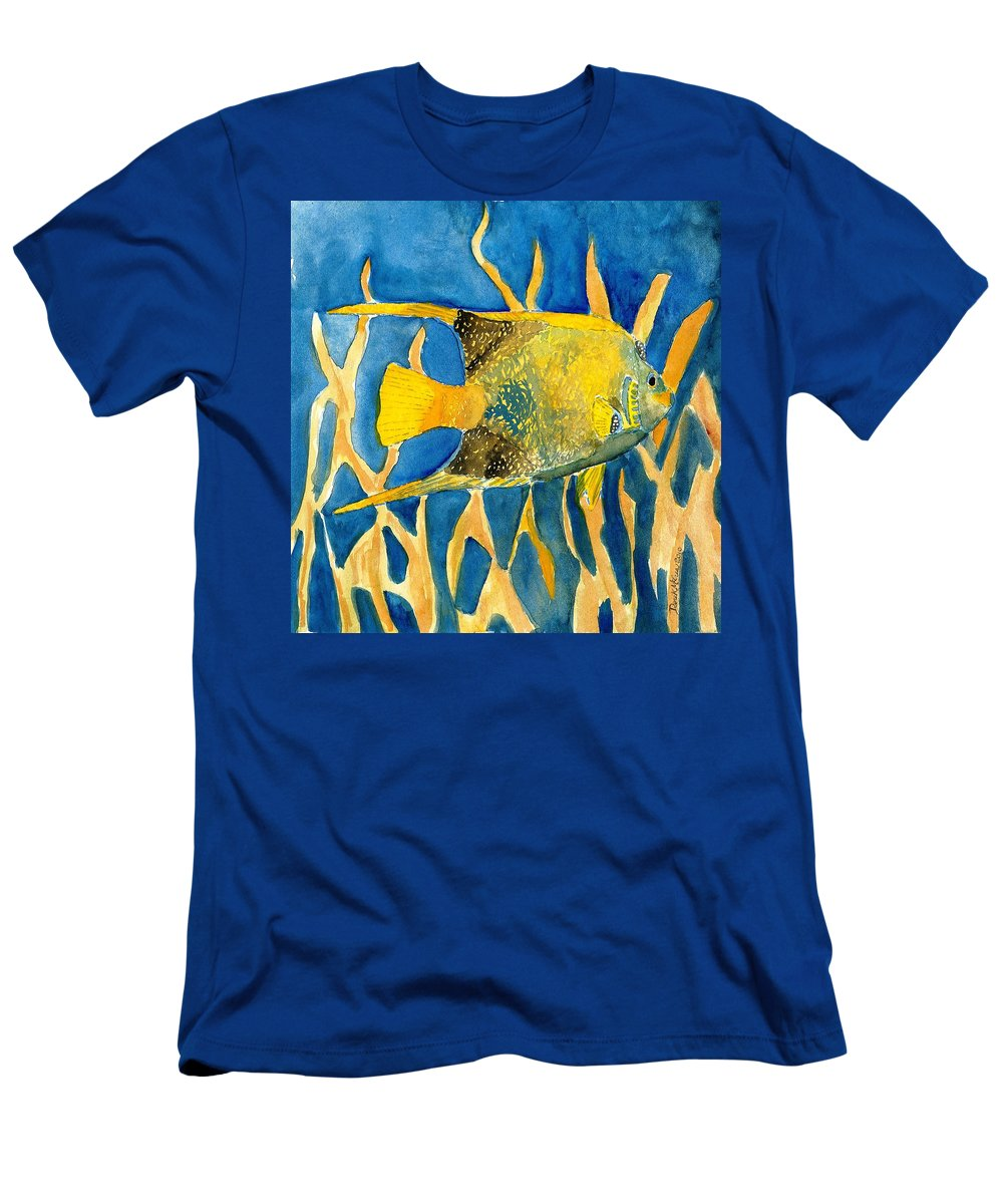 Tropical T-Shirt featuring the painting Tropical Fish Art Print by Derek Mccrea