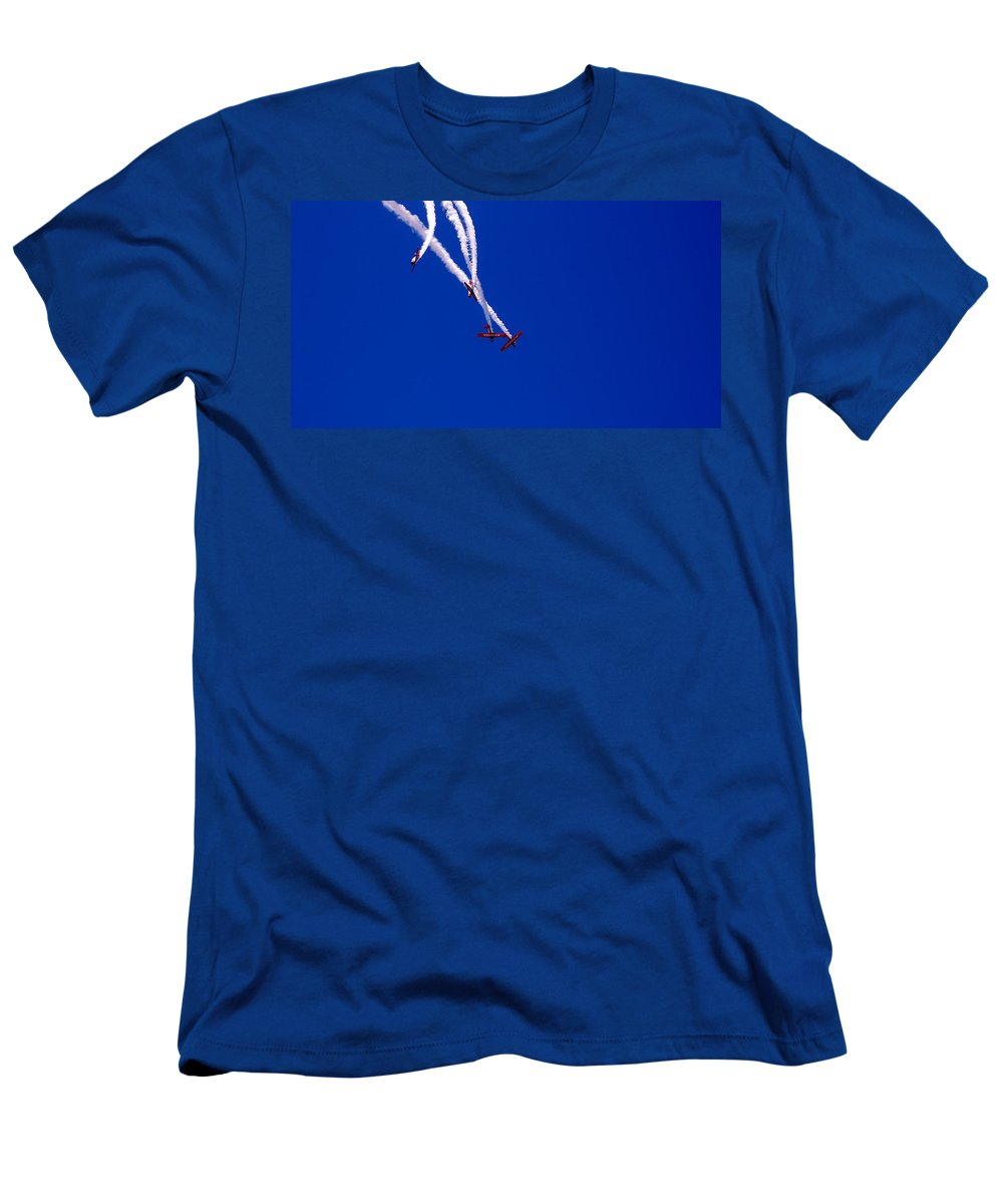 Airplanes Men's T-Shirt (Athletic Fit) featuring the photograph Twist And Turns by Christopher James
