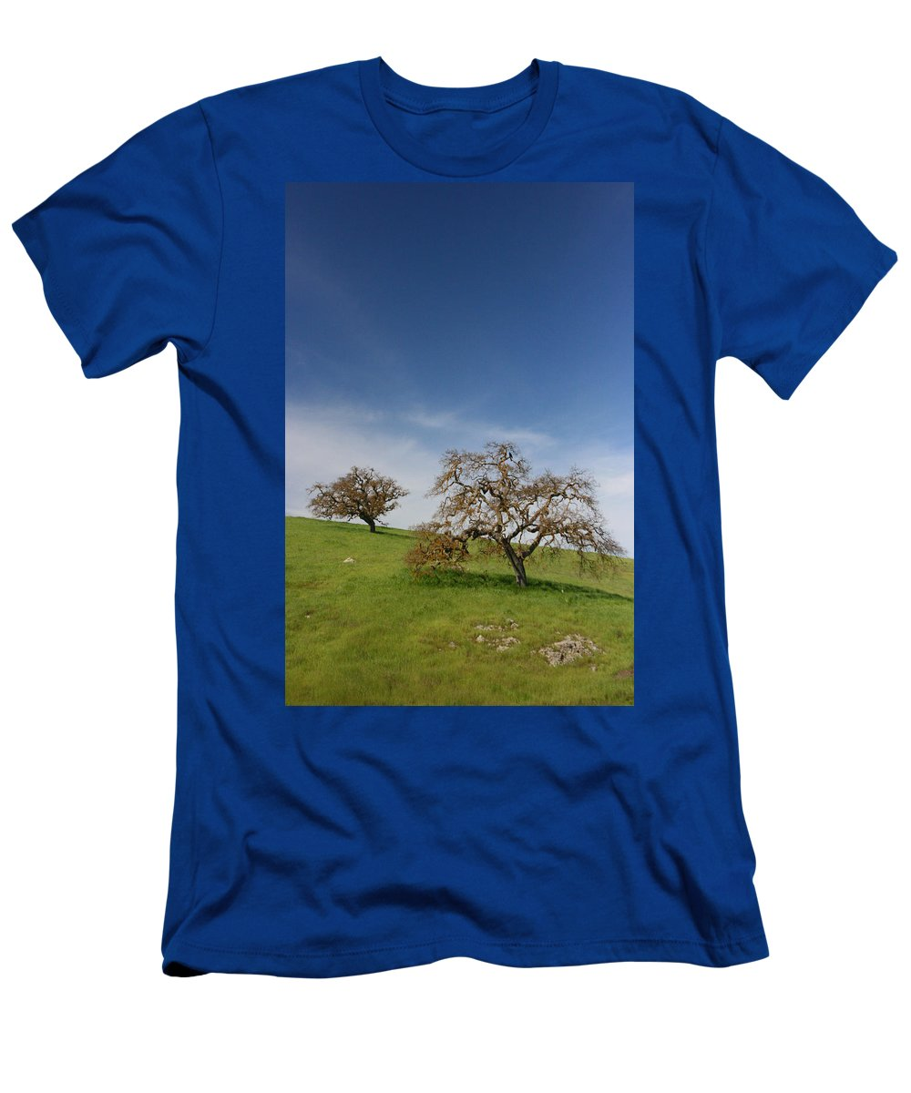 Trees Men's T-Shirt (Athletic Fit) featuring the photograph Two by Dayne Reast