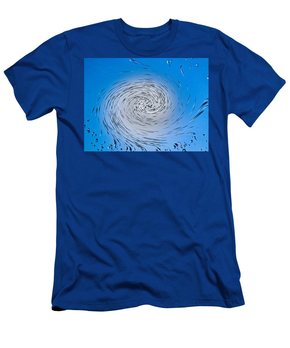 Water Men's T-Shirt (Athletic Fit) featuring the digital art Two Tone Vortex by David Pyatt