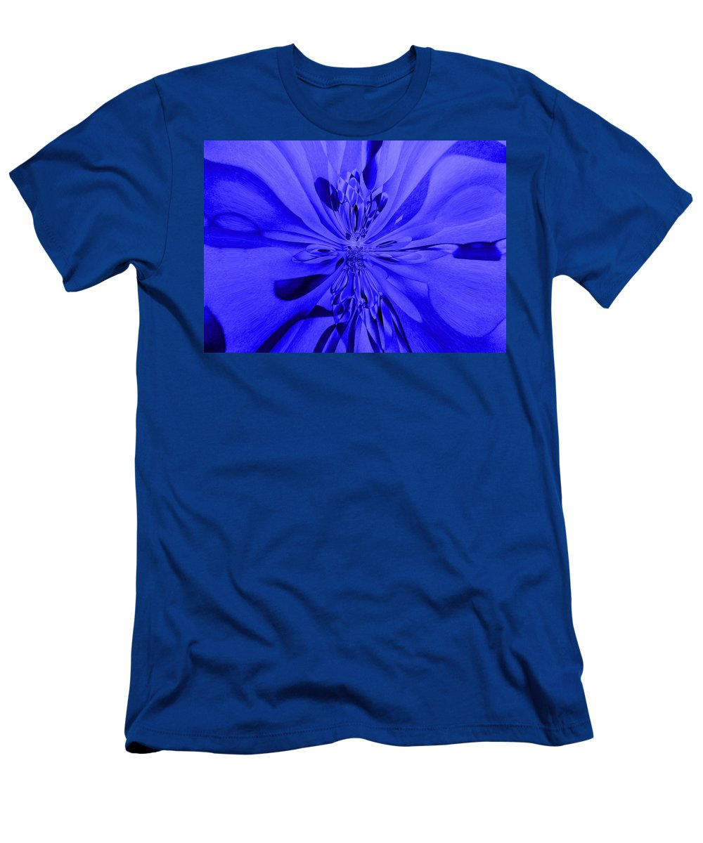 Genio Men's T-Shirt (Athletic Fit) featuring the photograph Values In Blue by Genio GgXpress