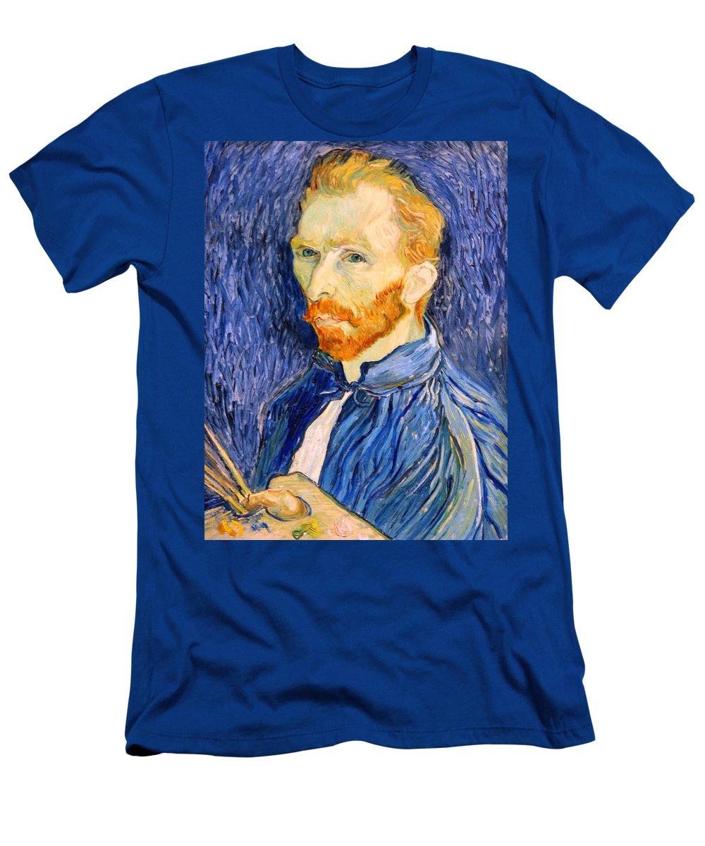 Vincent Van Gogh Men's T-Shirt (Athletic Fit) featuring the photograph Van Gogh On Van Gogh by Cora Wandel