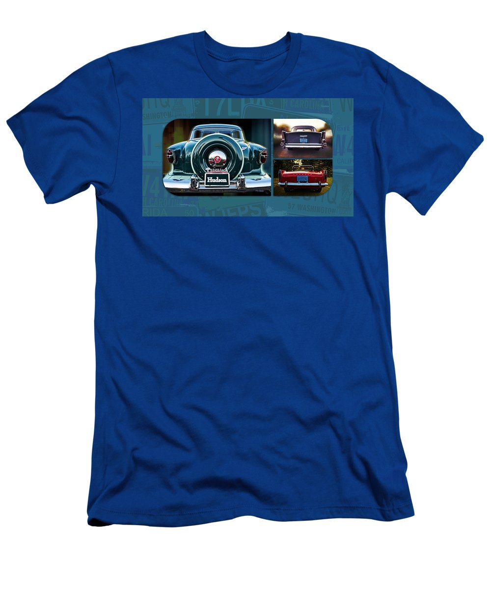 Vintage Automobiles Men's T-Shirt (Athletic Fit) featuring the photograph Vintage Automobiles by Mary Machare