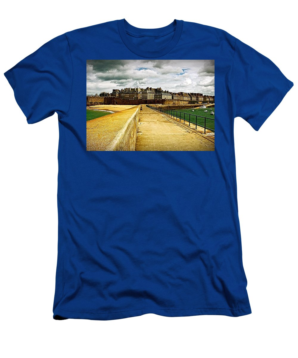 Intra Muros Men's T-Shirt (Athletic Fit) featuring the photograph Walkway To Intra Muros by Elf Evans