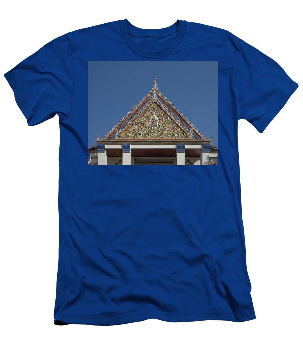 Bangkok Men's T-Shirt (Athletic Fit) featuring the photograph Wat Thewasunthon Preaching Hall Gable Dthb1423 by Gerry Gantt