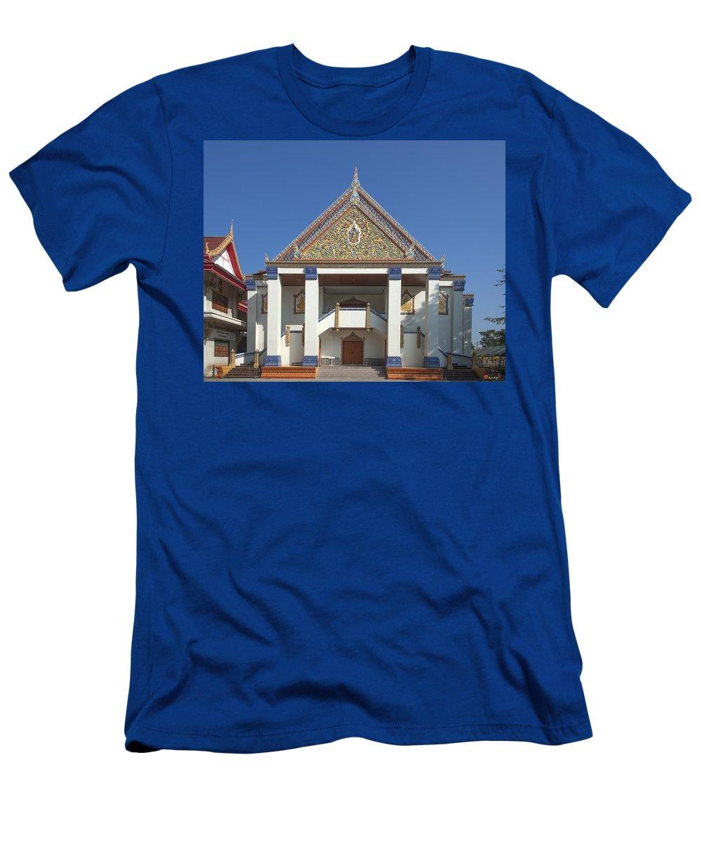 Bangkok Men's T-Shirt (Athletic Fit) featuring the photograph Wat Thewasunthon Preaching Hall Or Sala Kan Prien Dthb1422 by Gerry Gantt