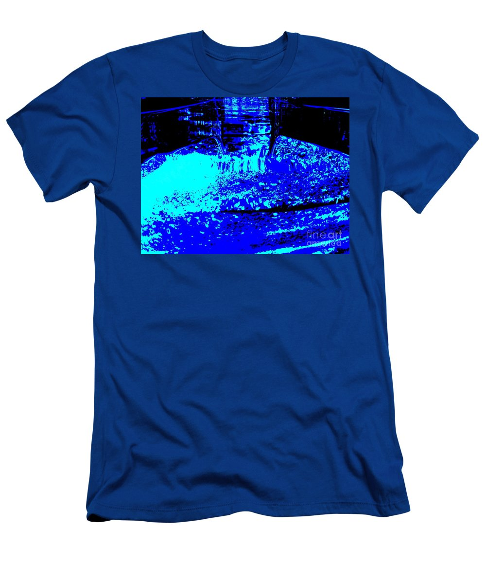 Abstract Men's T-Shirt (Athletic Fit) featuring the photograph Water Slide by Beverly Shelby