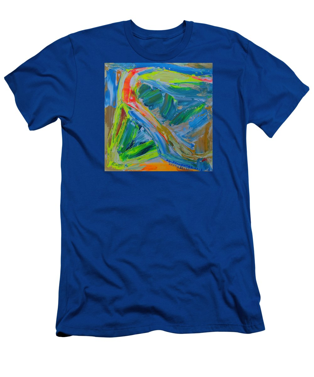 Abstract Painting Men's T-Shirt (Athletic Fit) featuring the painting Le Chemin De La Vie by Agnieszka Praxmayer