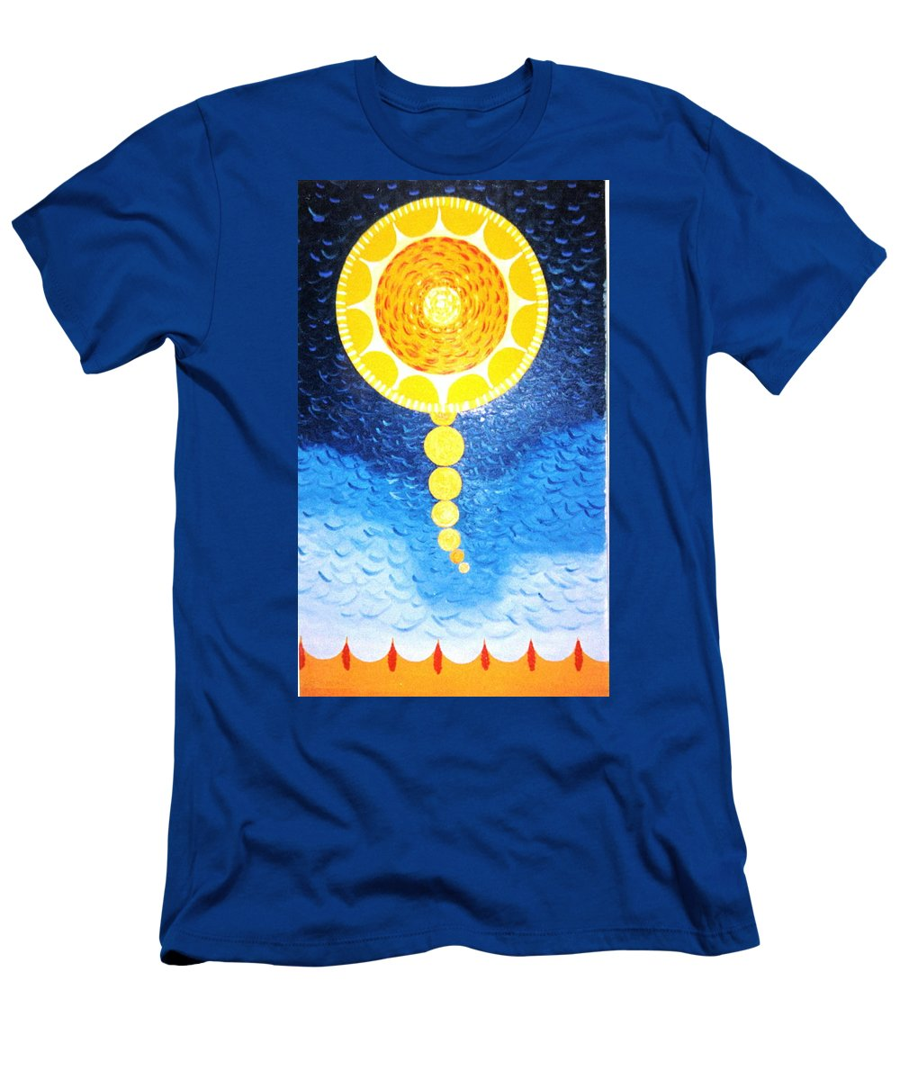 Sky Scape Men's T-Shirt (Athletic Fit) featuring the painting Wheat-shire by MERLIN Vernon