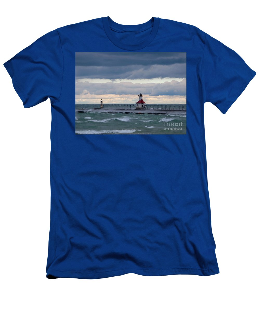 Wind Men's T-Shirt (Athletic Fit) featuring the photograph When The Wind Blows by Ann Horn