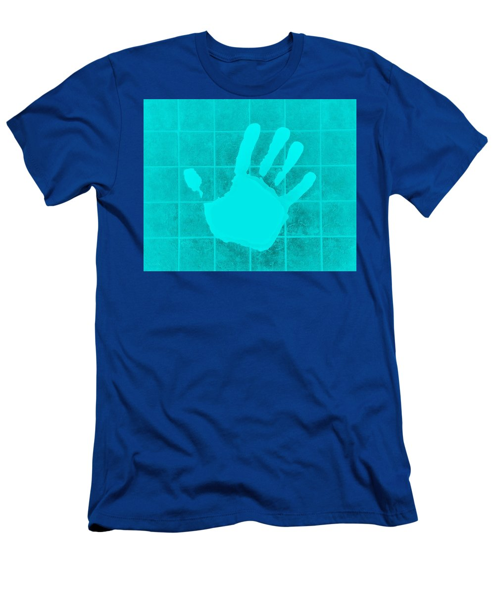 Hand Men's T-Shirt (Athletic Fit) featuring the photograph White Hand Aquamarine by Rob Hans