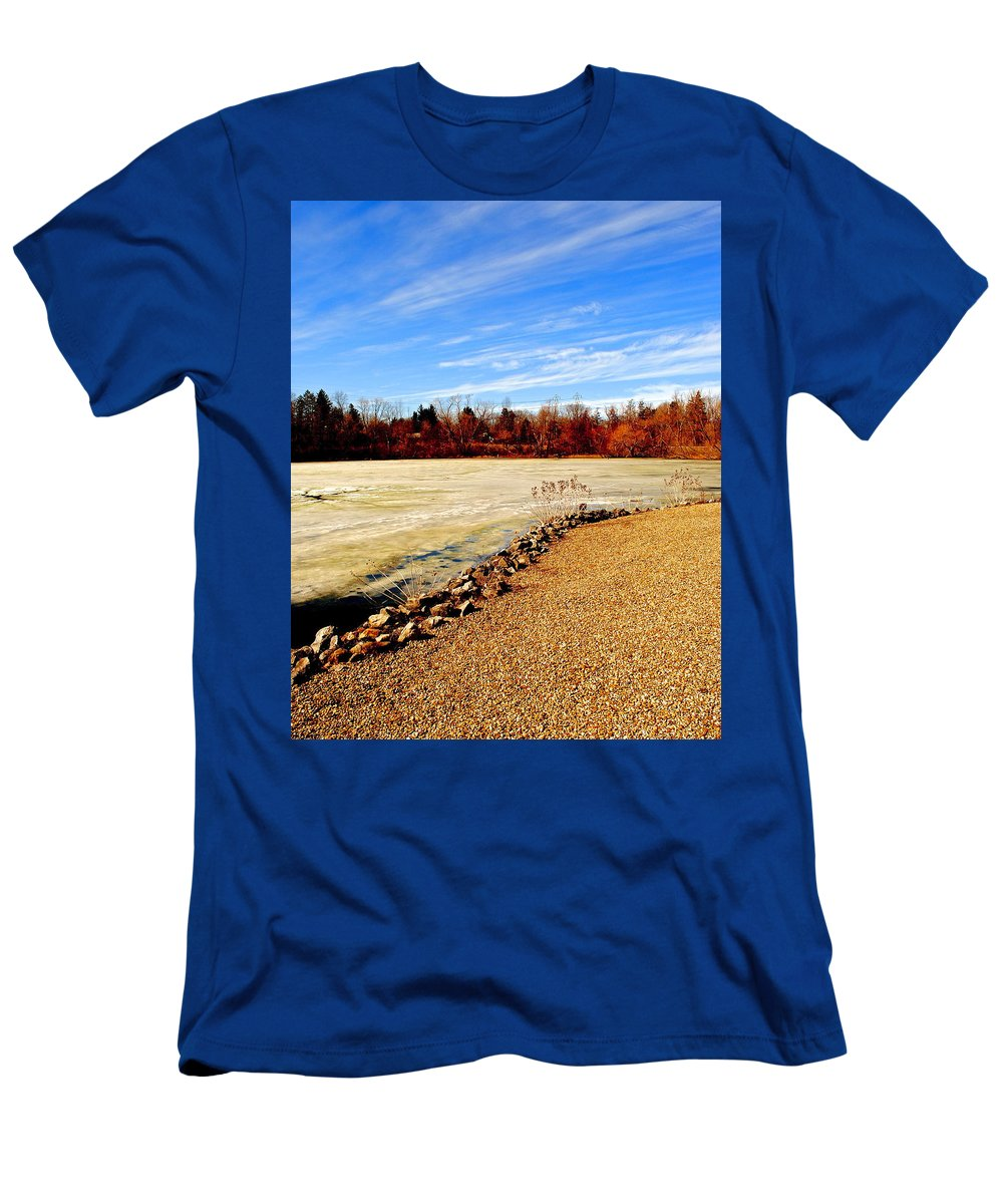Sky Men's T-Shirt (Athletic Fit) featuring the photograph Wild Blue Yonder by Frozen in Time Fine Art Photography