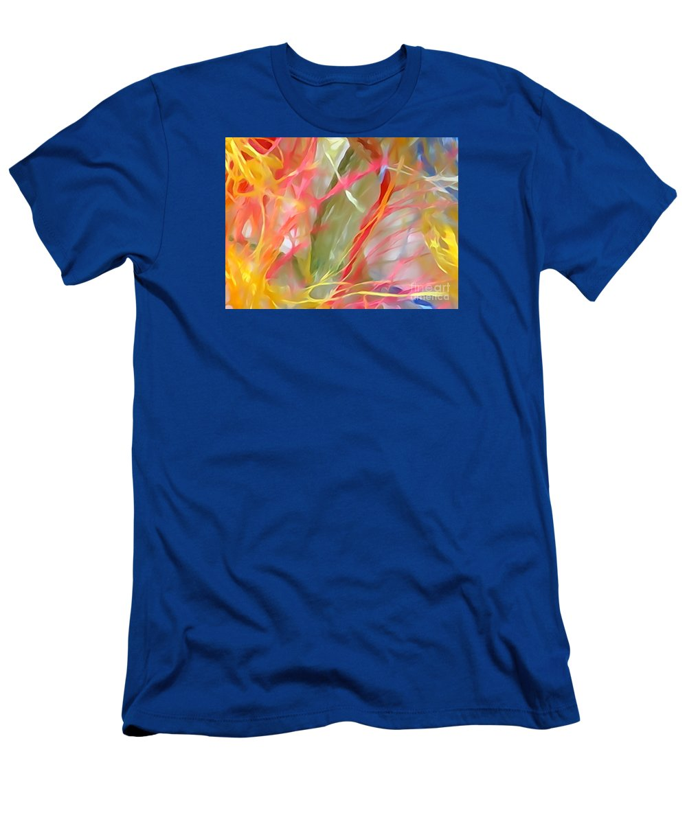 Diane Dimarco Art Men's T-Shirt (Athletic Fit) featuring the painting Wildflowers by Diane DiMarco