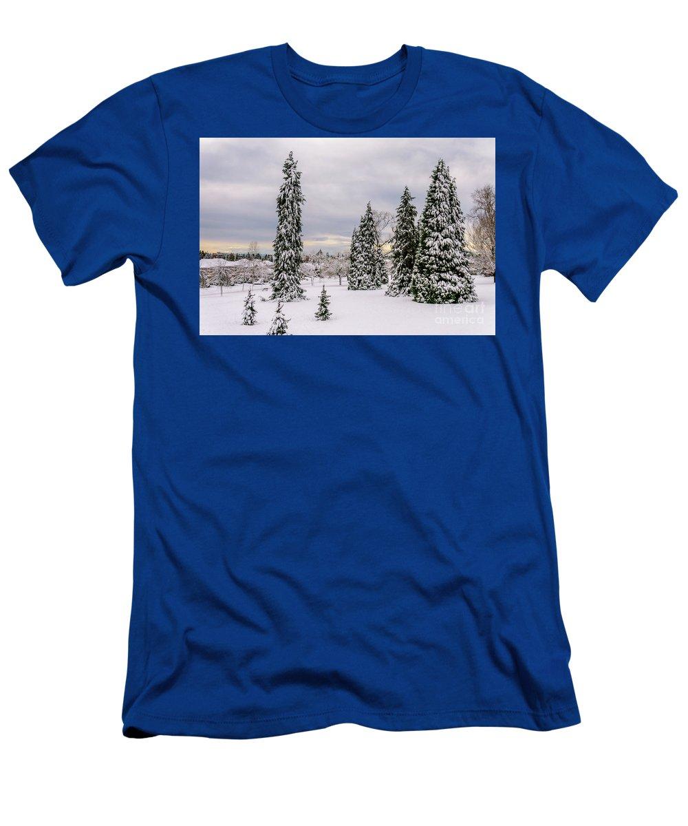 Photo Men's T-Shirt (Athletic Fit) featuring the photograph Fabulous Winter. by Viktor Birkus