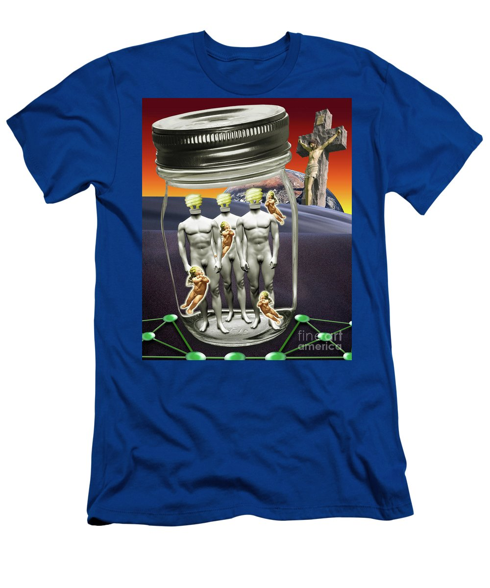 Technology Men's T-Shirt (Athletic Fit) featuring the digital art Wise Men 2.0 2011 by Keith Dillon
