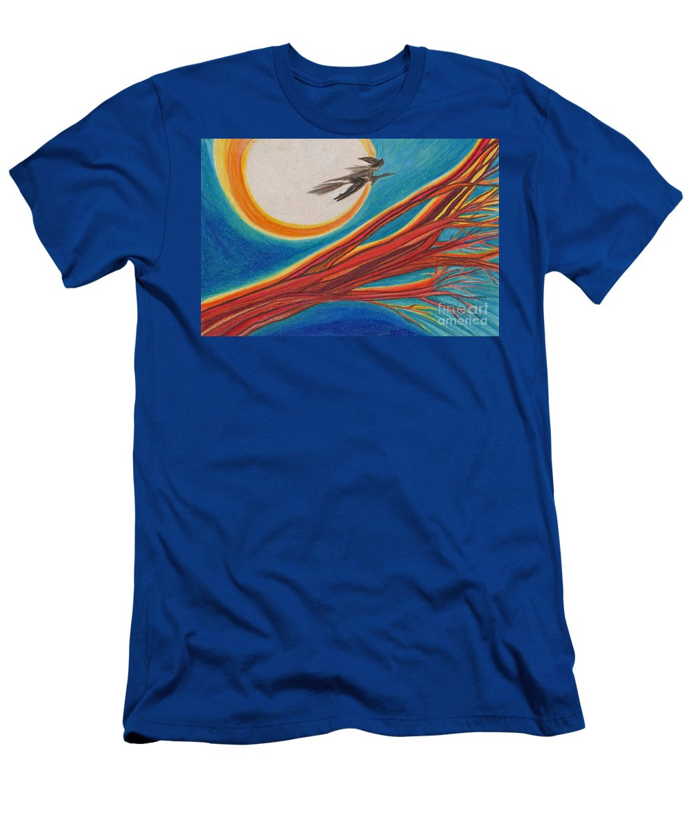 First Star Art Men's T-Shirt (Athletic Fit) featuring the drawing Witches' Branch 1 By Jrr by First Star Art