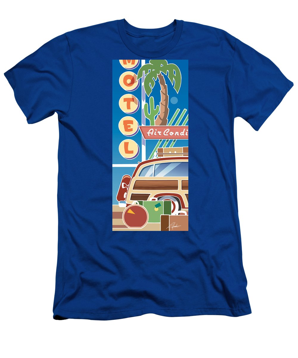 Mid Century Men's T-Shirt (Athletic Fit) featuring the digital art Woody by Larry Hunter