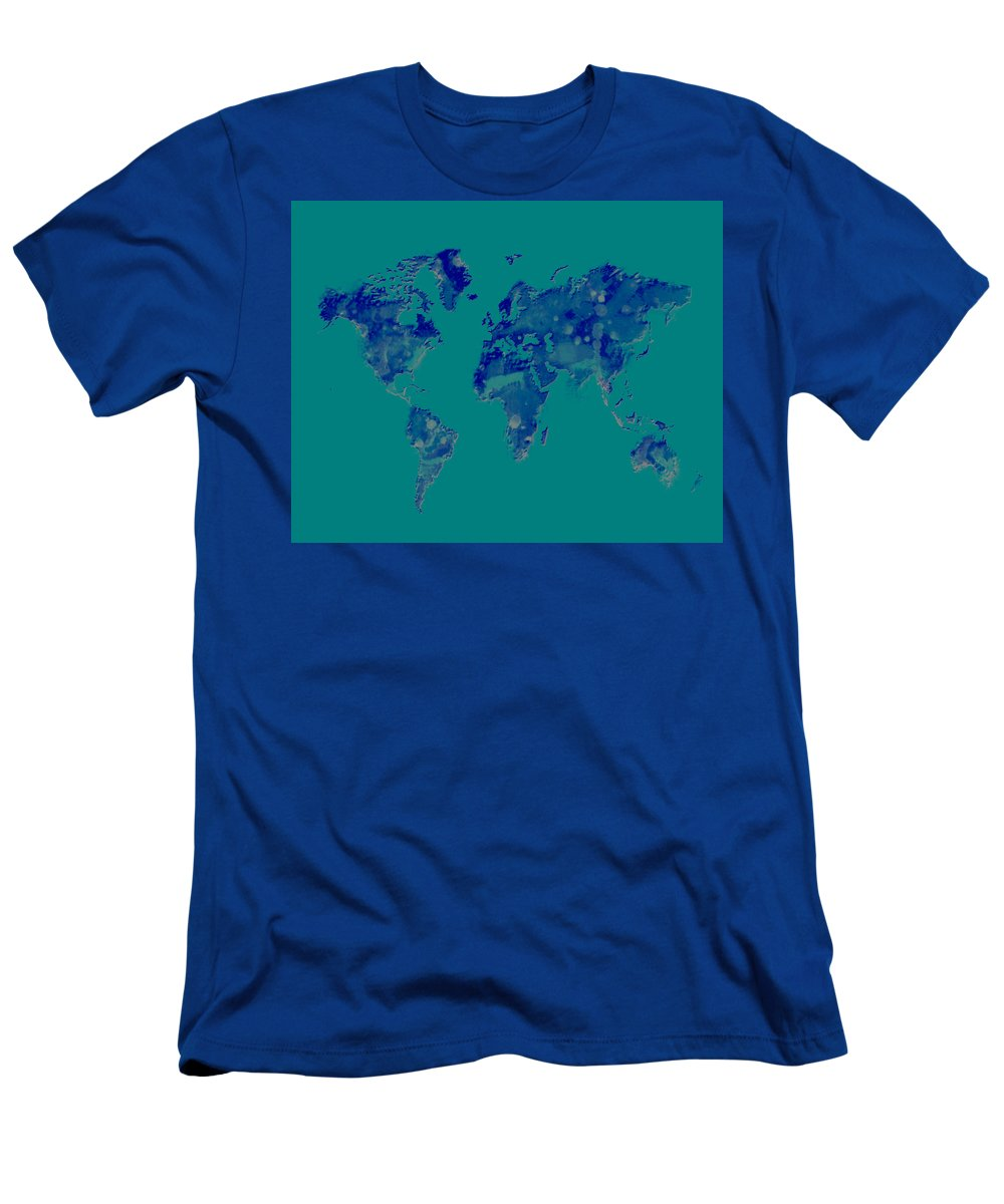 World Men's T-Shirt (Athletic Fit) featuring the digital art World Map 2b by Brian Reaves