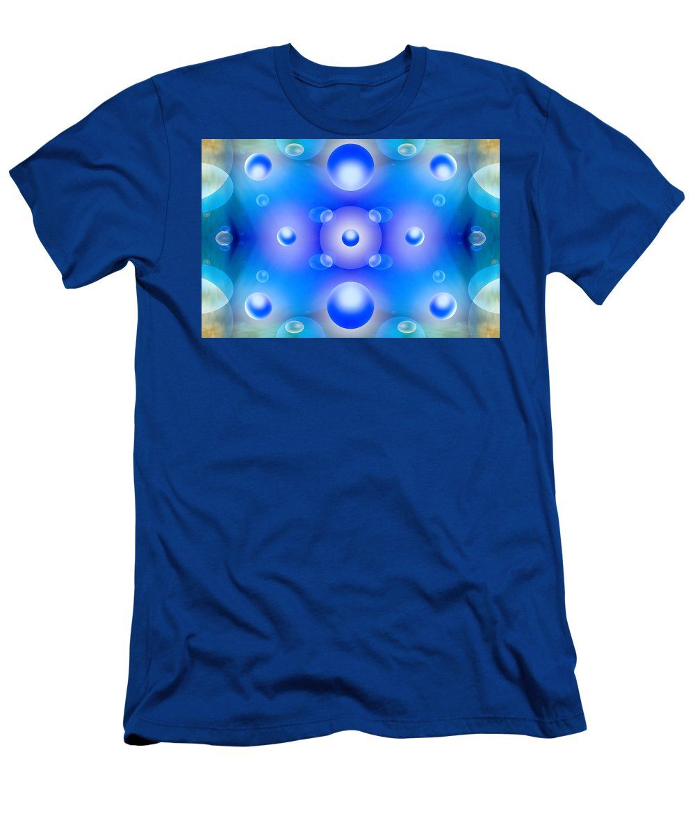 Abstract Men's T-Shirt (Athletic Fit) featuring the photograph Worlds Collide 1 by Mike McGlothlen