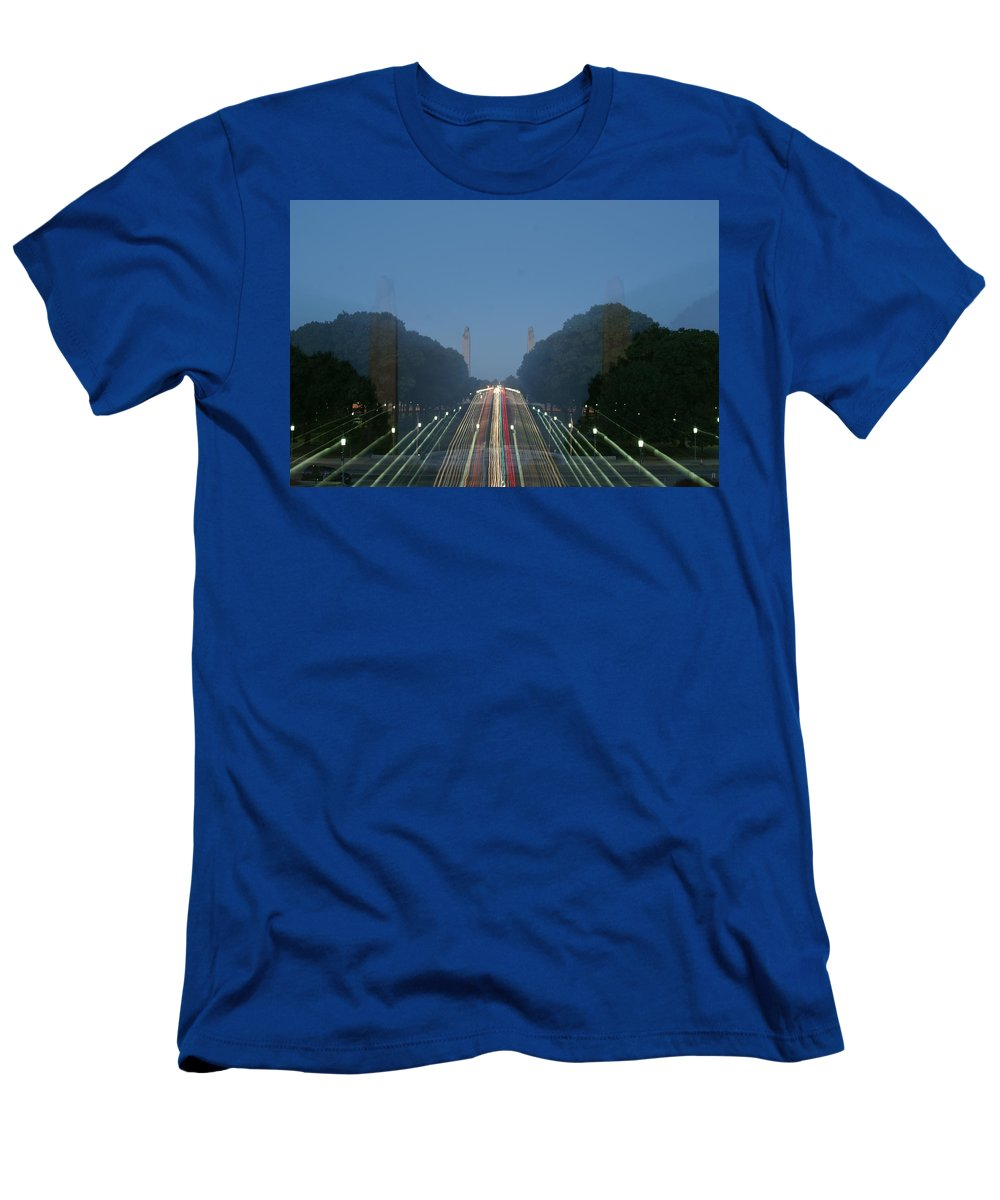 Plaza Men's T-Shirt (Athletic Fit) featuring the photograph Zoomy Pic Of The Plaza State Capital Pa by Rob Luzier