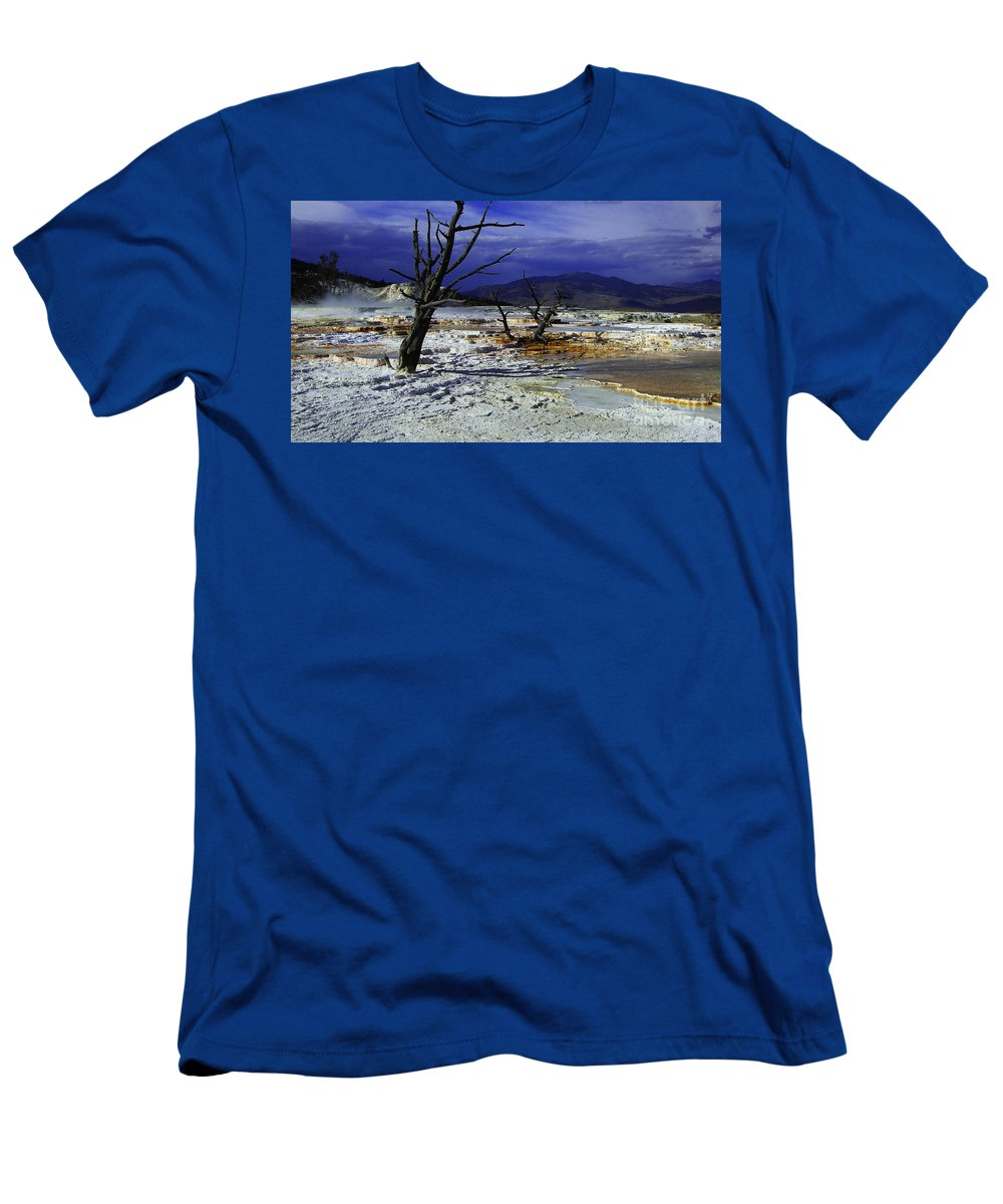 Yellowstone National Park Men's T-Shirt (Athletic Fit) featuring the photograph Yellowstone National Park 6 by Xueling Zou