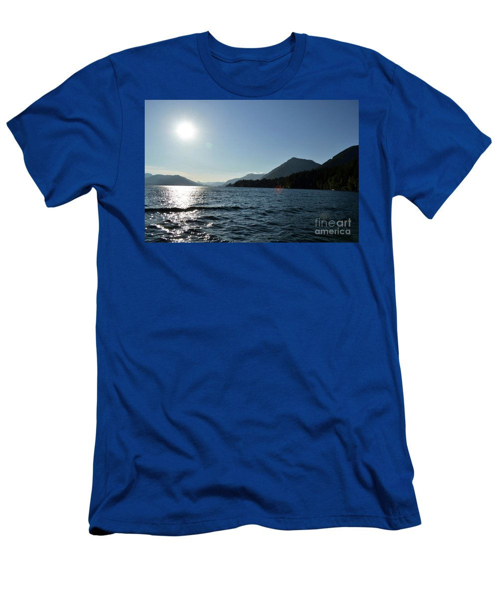 Ocean Men's T-Shirt (Athletic Fit) featuring the photograph Sunset by Traci Cottingham