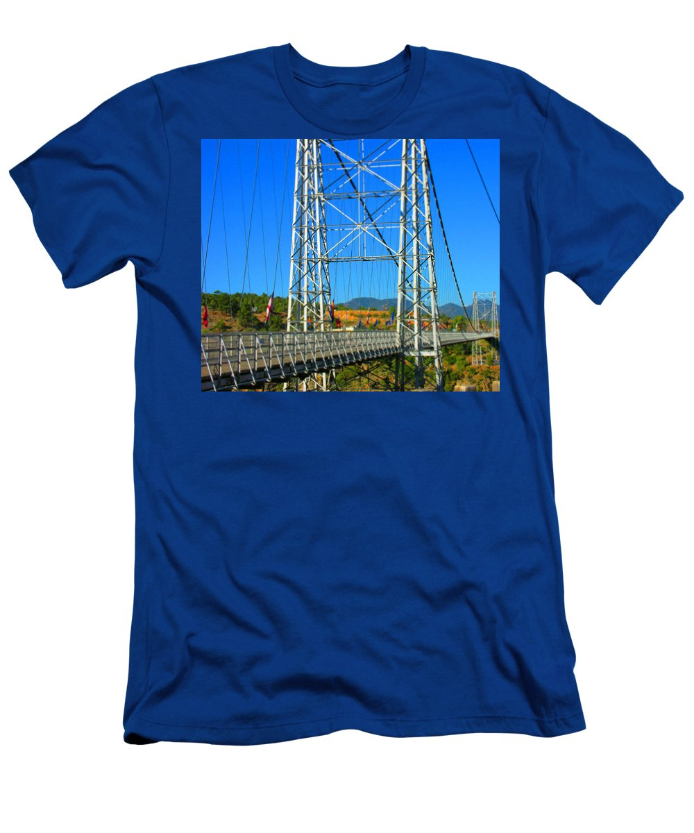 Bridge Men's T-Shirt (Athletic Fit) featuring the photograph Untitled by Adam Vance