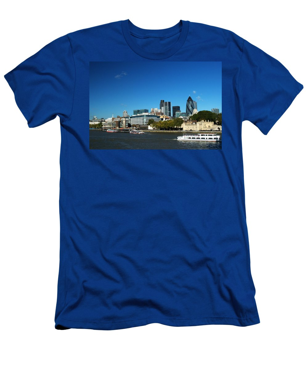 City Of London Men's T-Shirt (Athletic Fit) featuring the photograph City Of London Skyline by Chris Day